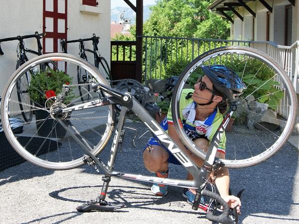 Preparing bikes