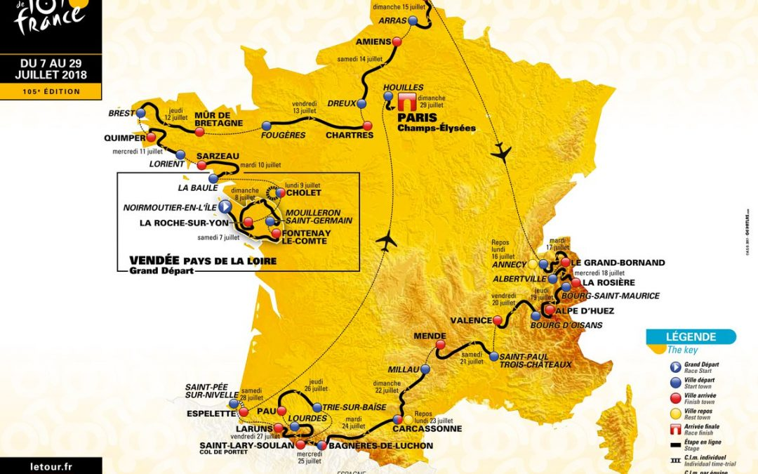 Tour de France 2018 – 3D route video