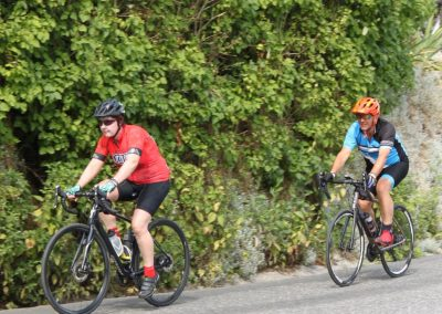 couples road cycling